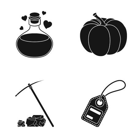 Information, nature, heart and other web icon in black style.mine, token, number icons in set collection.