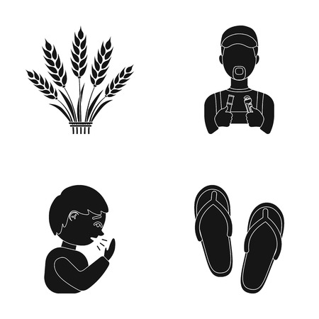 A profession, medicine, health and other web icon in black style.shoes, sea, rest, icons in set collection.