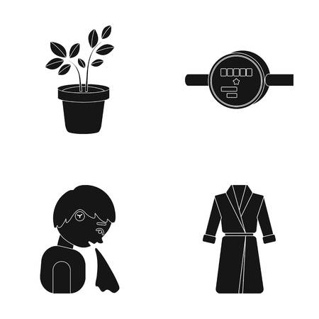A nature, equipment, medicine and other web icon in black style.knitwear, design, textiles icons in set collection. Ilustrace