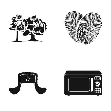 tree logo: Machinery, equipment, ecology and other web icon in black style.microwave, heating, cooking, icons in set collection.