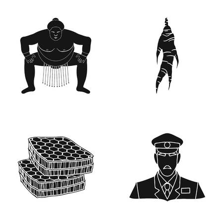 Sports, nutrition, delicacies and other web icon in black style. Military, cap, listening, icons in set collection.