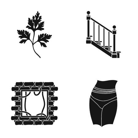 tree logo: Occupation, nature, ecology and other web icon in black style. Ribbon, diet, sport, icons in set collection. Illustration