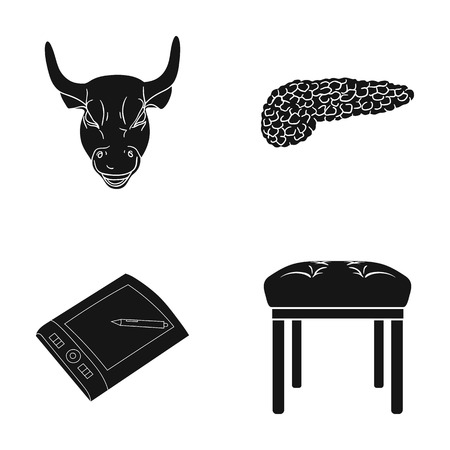 Education, museum, medicine and other web icon in black style.soft, foot, furniture, icons in set collection.