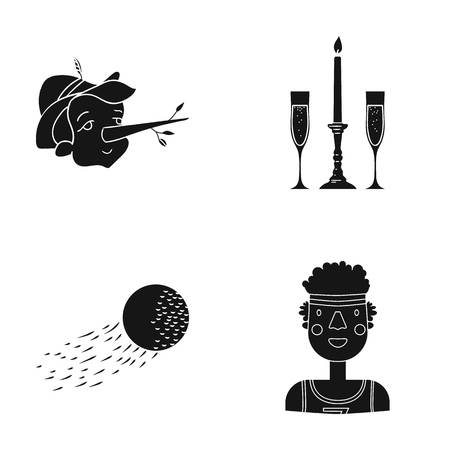 african, sport, entertainment and other web icon in black style. universe, man, sportsman icons in set collection.