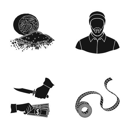 bank, business, north and other web icon in black style.crime, tape, flexible, icons in set collection.