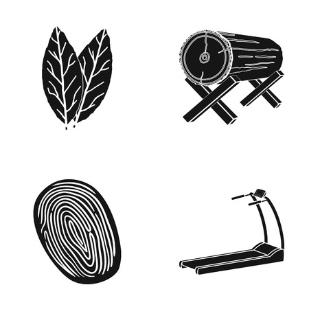 running, training, health and other web icon in black style.stone, trainer, path icons in set collection.