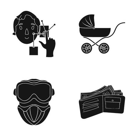 bank, lending, store and other web icon in black style.purse, money, purchase, icons in set collection.