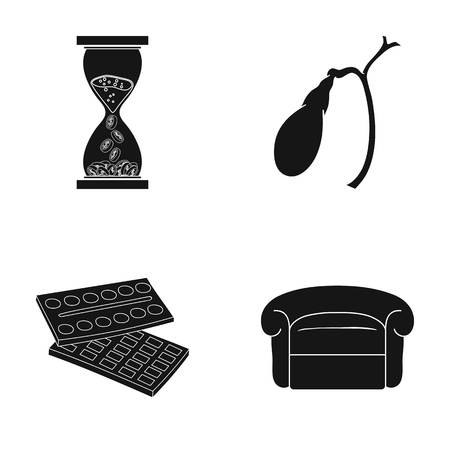 industry, medicine, art and other web icon in black style.design, decoration, furniture, icons in set collection.