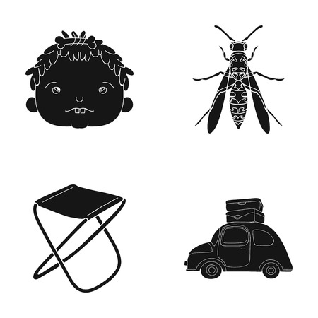 A trip, vacation, history and other web icon in black style.transportation, suitcases, travel icons in set collection.