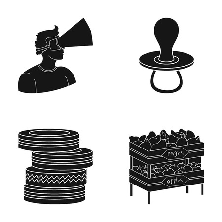 A pears, trade, shop and other web icon in black style.box, fruit, apples, icons in set collection.