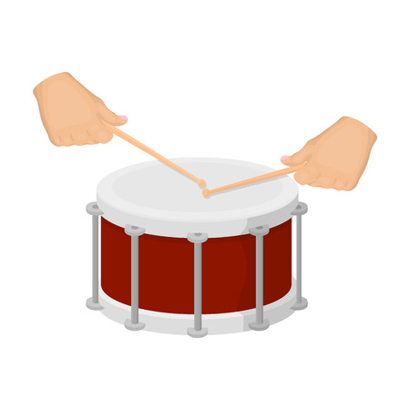 Drum, percussion musical instrument. Drum shot single icon in cartoon style vector symbol stock illustration web. Illustration