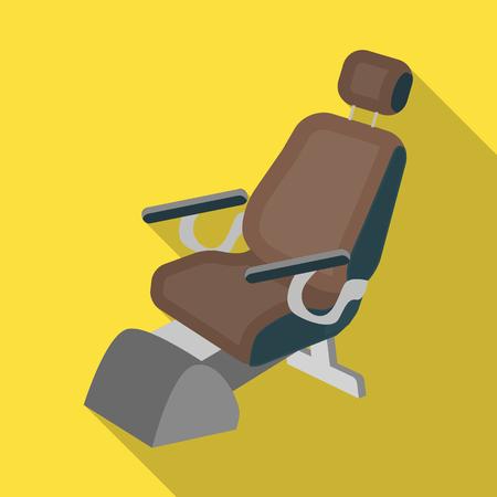 Dentist chair. Medicine single icon in flat style vector symbol stock illustration web. Illustration