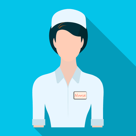 Medical staff in the hospital. Medicine single icon in flat style vector symbol stock illustration web.