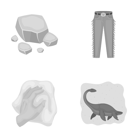 mine, cleaning and other monochrome icon in cartoon style.cowboy, history icons in set collection.