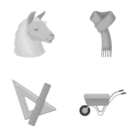 Animal, education and other monochrome icon in cartoon style. clothing, agriculture icons in set collection. Illustration