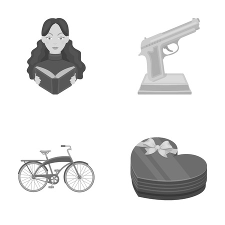 training, sport and other monochrome icon in cartoon style.film prize, gift icons in set collection.