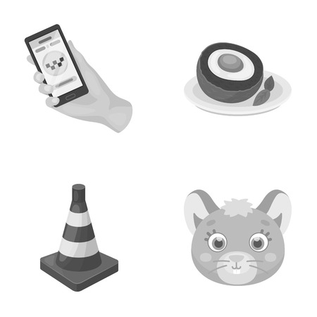 service, transport and other monochrome icon in cartoon style. cooking, animal icons in set collection.