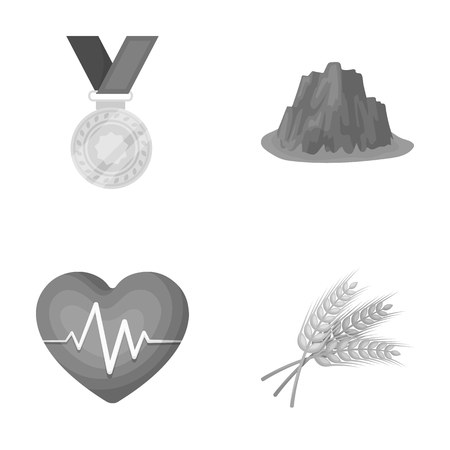 agriculture, sport and other monochrome icon in cartoon style.health, travel icons in set collection.