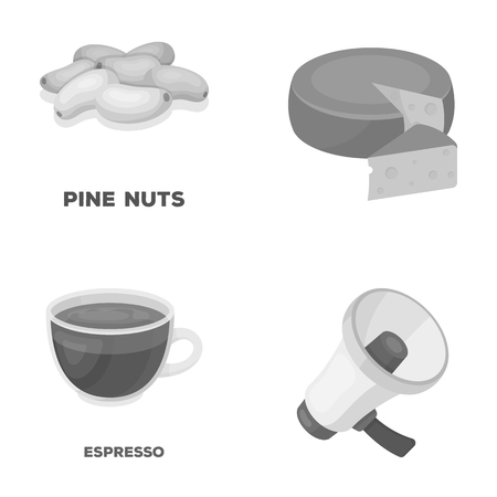 expresso: product, drink and other monochrome icon in cartoon style.fans, food icons in set collection.