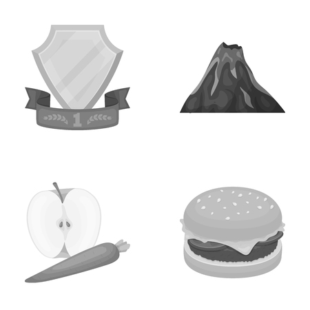 sports, food and other  icon in cartoon style. travel, fast food icons in set collection. Illustration