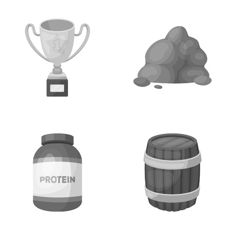 sport, medicine and other monochrome icon in cartoon style.Travel, alcohol icons in set collection. Ilustração