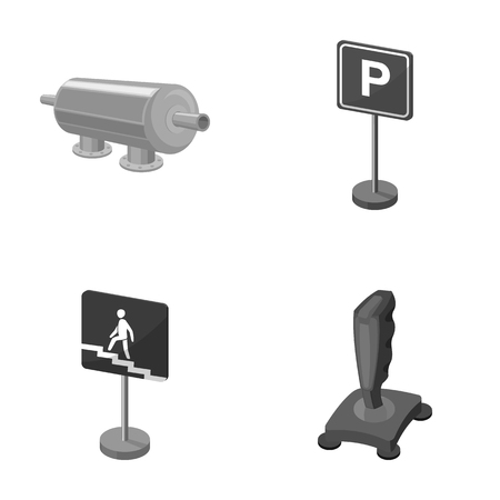 Filter, traffic sign and other monochrome icon in cartoon style. game joystick icons in set collection.