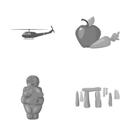army, religion and other monochrome icon in cartoon style.food, history icons in set collection. Illustration