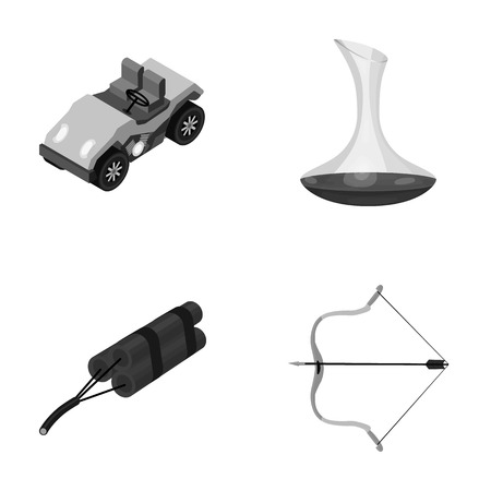 decanter: transport, mine and other monochrome icon in cartoon style.alcohol, sport icons in set collection. Illustration