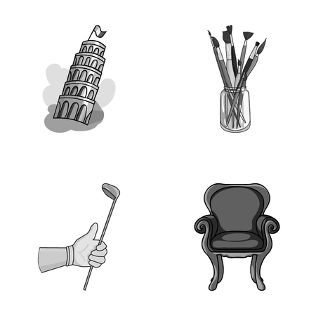 travel, sports and other monochrome icon in cartoon style.art, furniture icons in set collection.