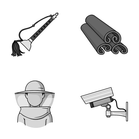 art, beekeeping and other monochrome icon in cartoon style.cooking, security icons in set collection. Vectores