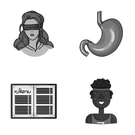 Verbrechen, Service und andere einfarbige Ikone im Karikatur style.medicine, Sportikonen in der Satzsammlung. Standard-Bild - 82821026