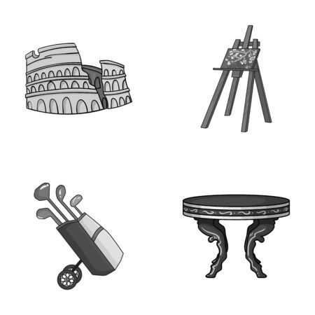 travel, sport and other monochrome icon in cartoon style.art, furniture icons in set collection.