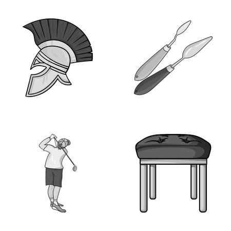 seats, leg and other monochrome icon in cartoon style.Art, furniture icons in set collection. Illustration