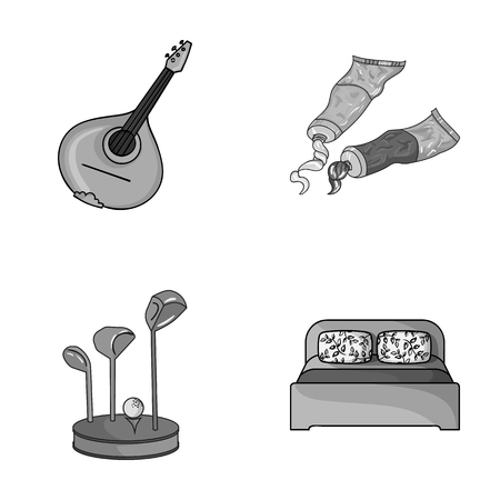 art, sport and other monochrome icon in cartoon style. artist, furniture icons in set collection.