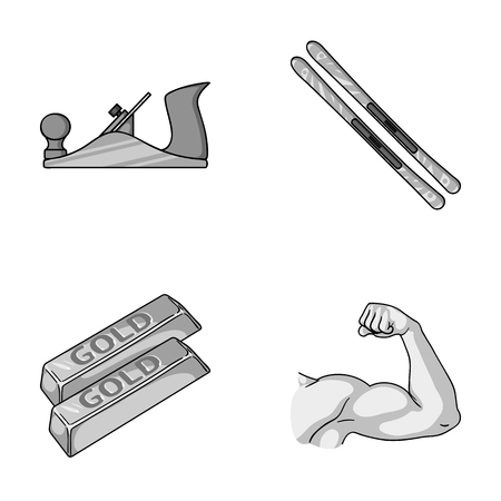warehouse building: building, finance and other monochrome icon in cartoon style. travel, fitness icons in set collection.