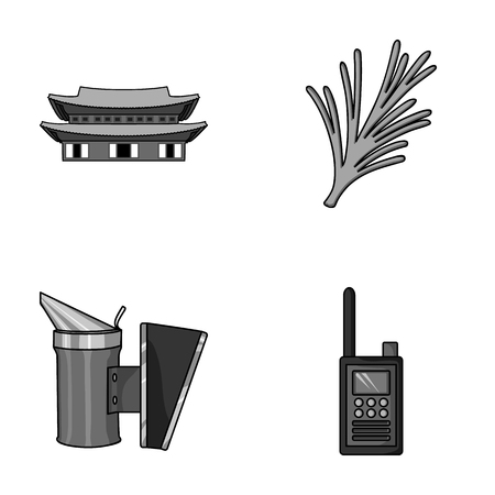 scaring: travel, beekeeping and other monochrome icon in cartoon style.cooking, security icons in set collection.
