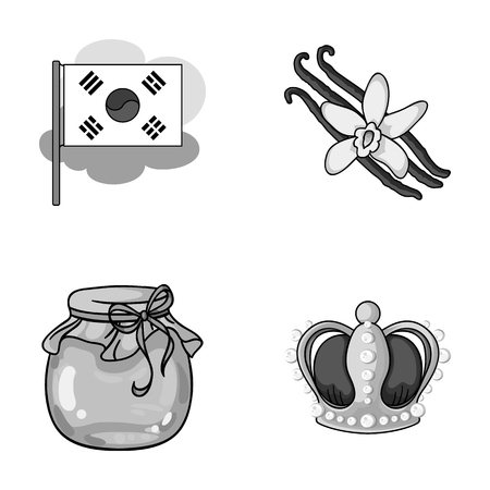 power, travel and other monochrome icon in cartoon style.beekeeping, art icons in set collection.