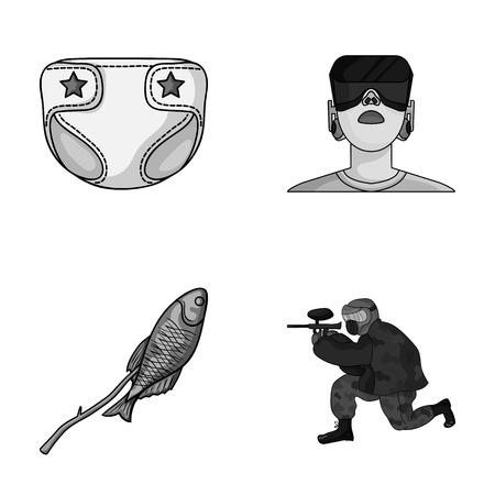 sport, technology and other monochrome icon in cartoon style.medicine, fishing icons in set collection.