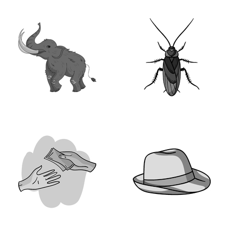 antennae: education, finance and other monochrome icon in cartoon style.animal, clothing icons in set collection.