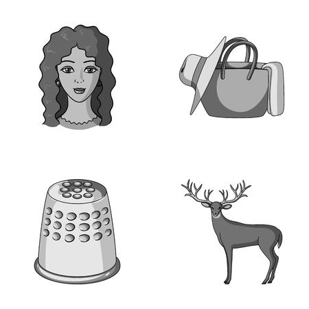 職業、アトリエや他の漫画のスタイルのアイコン。旅行、動物のアイコン セットのコレクション。