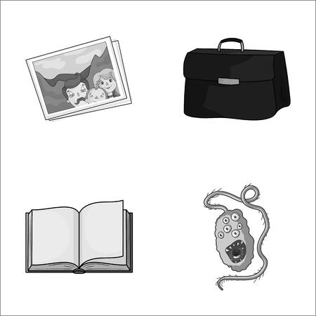 reizen, onderwijs en andere zwart-wit pictogram in cartoon stijl. Financiën, geneeskunde pictogrammen in instellen collectie.