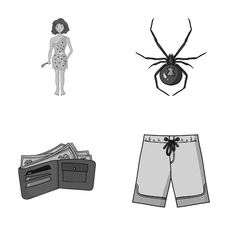 history, finance and other monochrome icon in cartoon style.animal, travel icons in set collection. Illustration