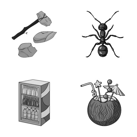 antennae: history, trade and other monochrome icon in cartoon style.animal, alcohol icons in set collection.