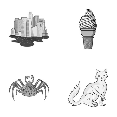 travel, animal and other  icon in cartoon style.Desert, rock icons in set collection. Illustration