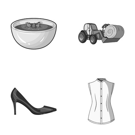 broth: sewing, food and other monochrome icon in cartoon style. shoes, fashion icons in set collection.