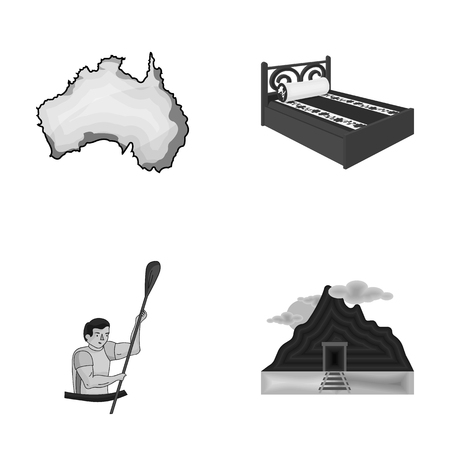 traveling, tourism, Industrial and other  icon in cartoon style, mining, coal, business, . icons in set collection. Illustration