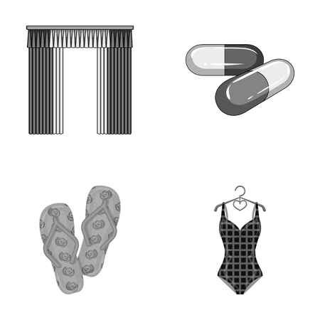 textiles, medicine, polyclinic and other monochrome icon in cartoon style.knitwear, leisure, business icons in set collection. Illustration