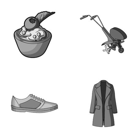 fashion, business, textiles and other monochrome icon in cartoon style. wool, clothing, knitwear, icons in set collection. Illustration