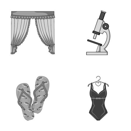 medicine, business, leisure and other monochrome icon in cartoon style. swimming, knitwear, textiles, icons in set collection. Illustration