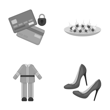bank, trade, business and other monochrome icon in cartoon style. women, red, restaurant, icons in set collection.
